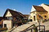 Medieval romanian town — Stock Photo