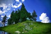 美丽的山景观 — 图库照片
