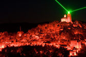 Light show in Veliko Tarnovo, Bulgaria — Stock Photo