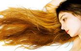 Long and beautiful hair — Stock Photo