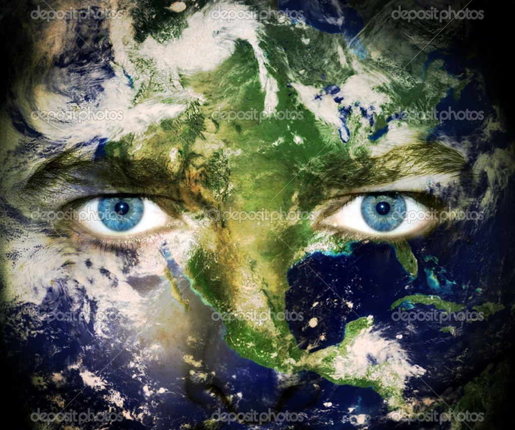 Environment concept: Eyes of planet Earth — Stockfoto #4941860
