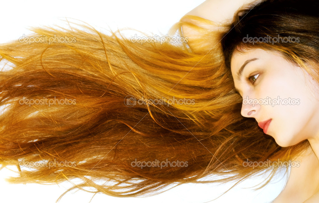 Young beautiful woman with amazing hair — Stock Photo #4943247