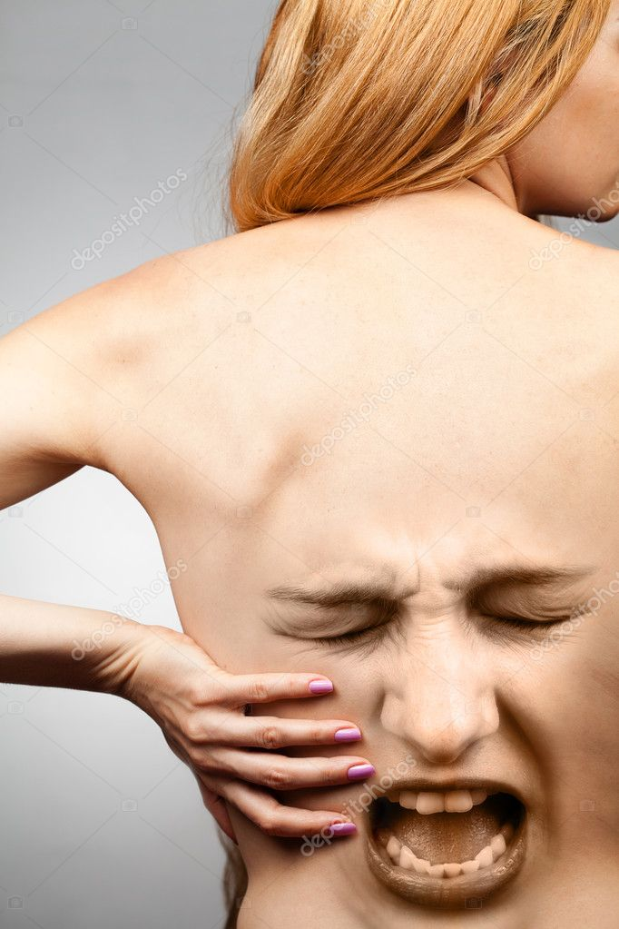 Back pain concept - waist spine in agony — Stock Photo #5157845