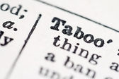 Taboo word in dictionary — Stock Photo