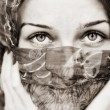Sensual eyes of woman behind vail — Stock Photo #5331029