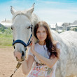 Woman and horse — Stock Photo #4282998
