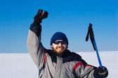 красивый лыжник — Стоковое фото