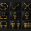 Navigation icons Led effect - Stock Photo