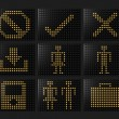 Navigation icons Led effect — Stock Photo #4499038