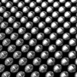 Silver aluminum shiny beans pattern — Stock Photo