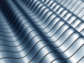 Abstract wave steel background — Stock Photo