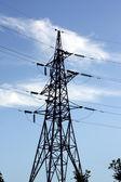 Przesyłowych energii elektrycznej — Zdjęcie stockowe