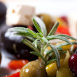 Stock Photo: Closeup of mixed antipasti with rosemary