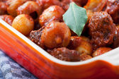 Closeup of a traditional greek stifado dish — Stock Photo