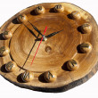 Stock Photo: Wall clock made of wood