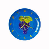 Blue Clock Plate — Stock Photo