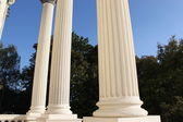 White columns — Stock Photo