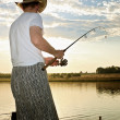 Fishermhas caught fish — Stock Photo #4742322