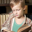 The boy reads the book. — Stock Photo