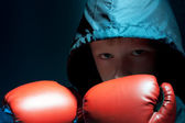 The little boy - boxer — Stock Photo