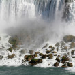 Stock Photo: AmericFalls Closeup
