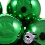 Green Holiday Balls — Stock Photo