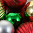 A Bunch of Christmas Baubles — Foto de Stock