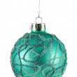 Aqua Christmas Bauble — ストック写真