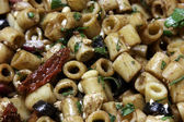 Close-up of Greek Pasta Salad — Stock Photo