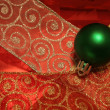 Green Bauble — Stock Photo