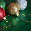 Four Shiny Christmas Balls — Stock Photo