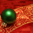 Green Ball on Ribbon — Foto Stock