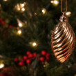 Gold Spiral Ornament — Stock Photo