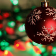Red Bauble with Lights Backdrop — Stock Photo #4082458