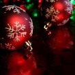 Red Snowflake Baubles — Foto de Stock