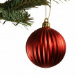 Stock Photo: Red Ball Christmas Ornament