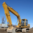 Stock Photo: Imposing Backhoe