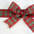 Stock Photo: Red Plaid Christmas Bow
