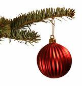 Adornos de navidad de la bola roja — Foto de Stock