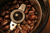Birds Eye Coffee Grinder View — Stock Photo