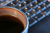 Coffee and Laptop — Stock Photo