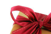 Red Xmas Bow — Stock Photo