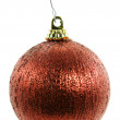 Vintage Red Shiny Christmas Ornament — Stock Photo