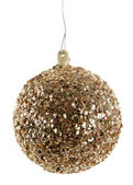 Gold Glittery Christmas Ornament — Stockfoto