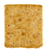 Square Isolated Cracker — Stock Photo