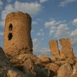 Old ruined castle on a hill in Balaklava, Crimea, Ukraine — Stock fotografie