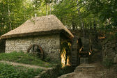 Old architecture village water mill building — Stock Photo