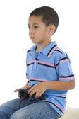 Preschooler with joystick — Stock Photo