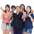 Asian women with thumbs up — Stock Photo #4361867