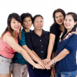 Group of asian friends — Stock Photo #4361886